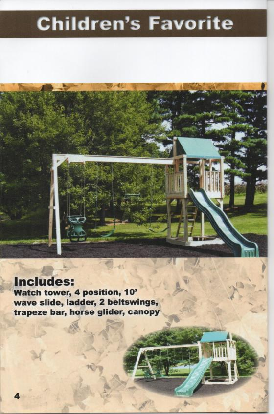 Outdoors Unlimited Wood Swingsets 614 561 9931