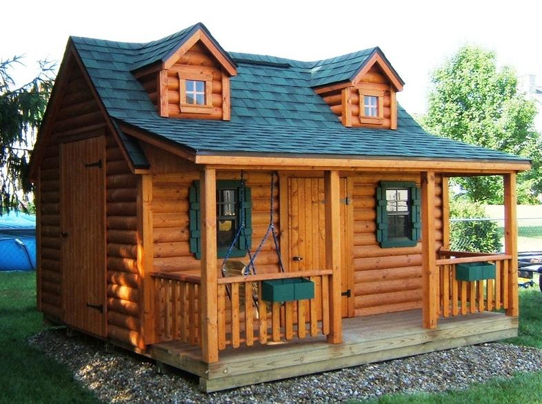 Playhouses for Log cabin garages for sale