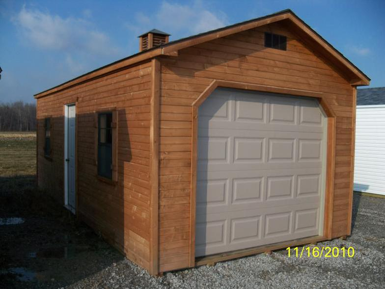 Shop wood storage sheds at lowescom portable storage sheds for Garden sheds built on site